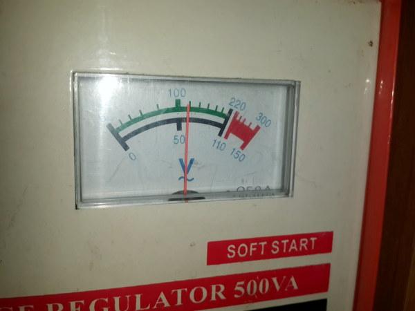Voltage Stabilizer pun menyerah jika tegangan masukan terlalu rendah