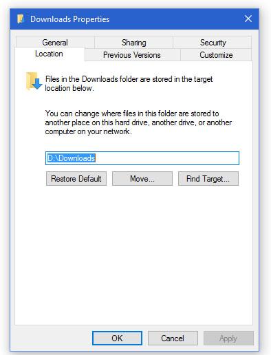 Folder download dipindah ke D (HDD Biasa), selain mengurangi proses penulisan ke SSD, pemindahan ini juga menghindari cepat penuh SSD dari data downloadan yang sering download, pakai lalu lupakan