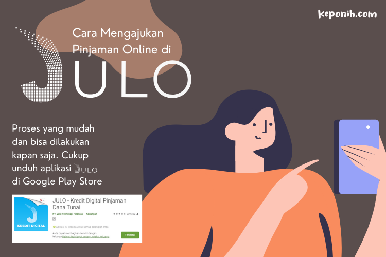 cara mengajukan pinjaman online JULO